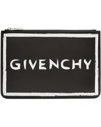 Givenchy - Graffiti Logo Leather Pouch - Lyst