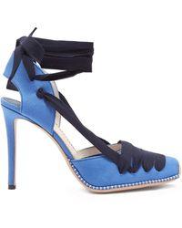 Altuzarra - D'orsay Wraparound Canvas Court Shoes - Lyst