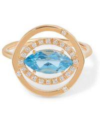 Susan Foster - Diamond, Topaz & Yellow-gold Ring - Lyst