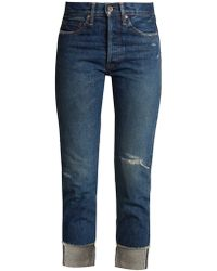 Chimala - High-rise Distressed Jeans - Lyst