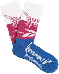 Vetements - X Reebok Edition Classic Cotton Blend Socks - Lyst