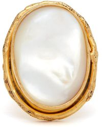Sylvia Toledano - Mother-of-pearl And Brass Ring - Lyst