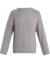 Queene And Belle - Aster Ribbed Knit Cashmere Jumper - Lyst