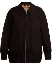 Burberry - Barnhall Cotton-gabardine Harrington Jacket - Lyst