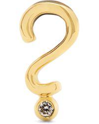 Alison Lou - Yellow-gold Top Hat Single Earring - Lyst