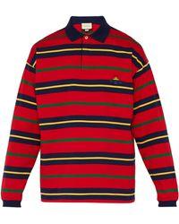 0b395e89927 Lyst - Polo rayé Baiadera Gucci pour homme en coloris Rouge