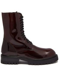 Ann Demeulemeester - Polished Leather Ankle Boots - Lyst