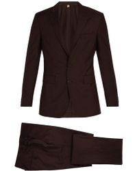 Burberry - Soho Single Breasted Wool Blend Suit - Lyst