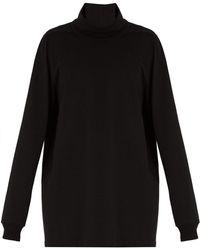 Rick Owens - Roll Neck Cotton Jersey Sweater - Lyst