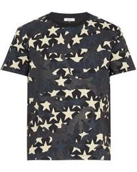 Valentino - Star Camouflage T-shirt - Lyst