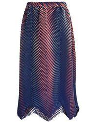 Issey Miyake - Neptune Pleated Midi Skirt - Lyst