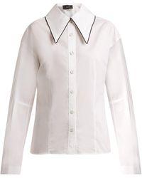 Joseph | Ruben Contrast-collar Cotton Shirt | Lyst