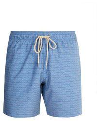 Faherty Brand - Beacon Geometric-print Swim Shorts - Lyst