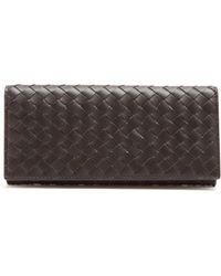 Bottega Veneta - Intrecciato Bi Fold Leather Wallet - Lyst