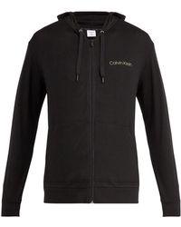 Calvin Klein - Zip Through Hooded Sweatshirt - Lyst