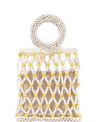 Rosantica By Michela Panero - Jules Small Beaded Clutch - Lyst