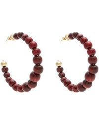 Rosantica By Michela Panero | Inganno Bead-embellished Hoop Earrings | Lyst