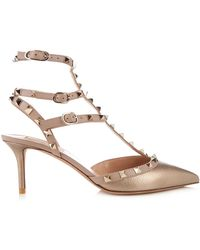 Valentino - Rockstud Leather Pumps - Lyst