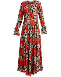 Diane von Furstenberg - Robe en soie à imprimé floral Boswell - Lyst