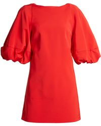 Tibi - Balloon-sleeved Faille Mini Dress - Lyst