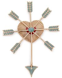 Etro - Heart And Arrows Brooch - Lyst