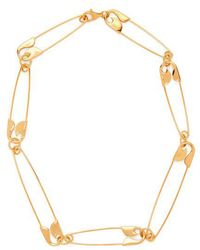 Balenciaga - Safety-pin Necklace - Lyst