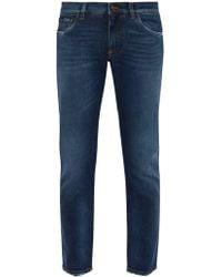 Dolce & Gabbana - Logo Appliqué Pocket Slim Leg Jeans - Lyst