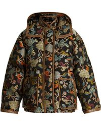 Etro - Mandala Floral-jacquard Quilted Jacket - Lyst