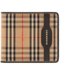 Burberry - Haymarket Check Bi Fold Wallet - Lyst