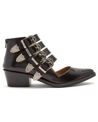 Toga - Cut-out Buckle Boots - Lyst