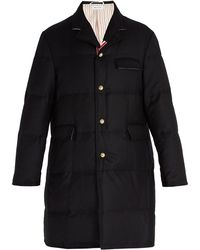 Thom Browne - Chesterfield Down Filled Wool Coat - Lyst