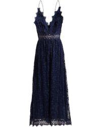 Zimmermann - Castile Antique Lace Trimmed Silk Jumpsuit - Lyst