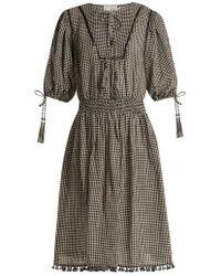 Zimmermann - Paradiso Gingham Linen-blend Dress - Lyst