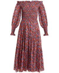 Rebecca Taylor - Cosmic Off-shoulder Floral-print Dress - Lyst