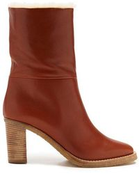 Gabriela Hearst - Helen Shearling-lined Leather Ankle Boots - Lyst