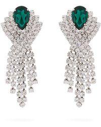 Alessandra Rich - Crystal Wrap Earrings - Lyst