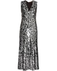 Roberto Cavalli - Leopard-Print Sequin-Embellished Gown - Lyst