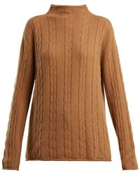 CONNOLLY - High-neck Cable-knit Cashmere Jumper - Lyst