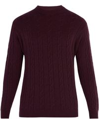 CONNOLLY - Crew-neck Cable-knit Cashmere Jumper - Lyst