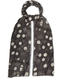Title Of Work - Printed Cotton Blend Scarf - Lyst