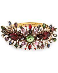 Alexander McQueen - Rose Embellished Cuff - Lyst