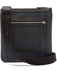 Burberry - - Beckley Checked Cross Body Bag - Mens - Black Navy - Lyst