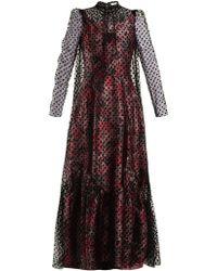 Erdem - Eilian Tulle-overlay Floral-jacquard Gown - Lyst
