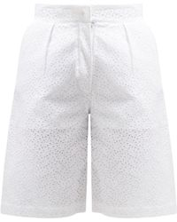 Giuliva Heritage Collection - The Stella Broderie Anglaise Linen Shorts - Lyst