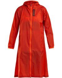 Calvin Klein - Hooded Water Repellent Coat - Lyst