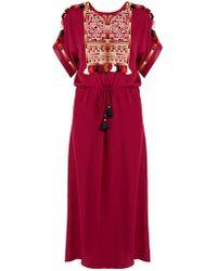 Figue - Naya Embroidered Silk Georgette Dress - Lyst