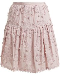 See By Chloé - Embroidered Mini Skirt - Lyst