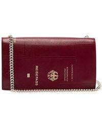 Vetements - Passport Print Leather Bag - Lyst