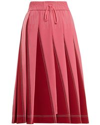 Valentino - A Line Pleated Jersey Skirt - Lyst