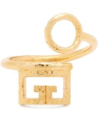 Givenchy - Logo And Circular Cut Out Cuff - Lyst